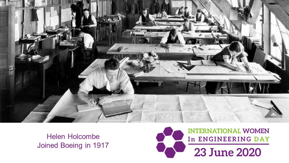 In 1917 Helen Holcombe was the first woman in our drafting department. Her job was to copy blueprints before giving them to a carpenter. #INWED20  Helen helped #ShapeTheWorld. Read more: https://t.co/HoZgHOPXvP https://t.co/N33AE1JdHl