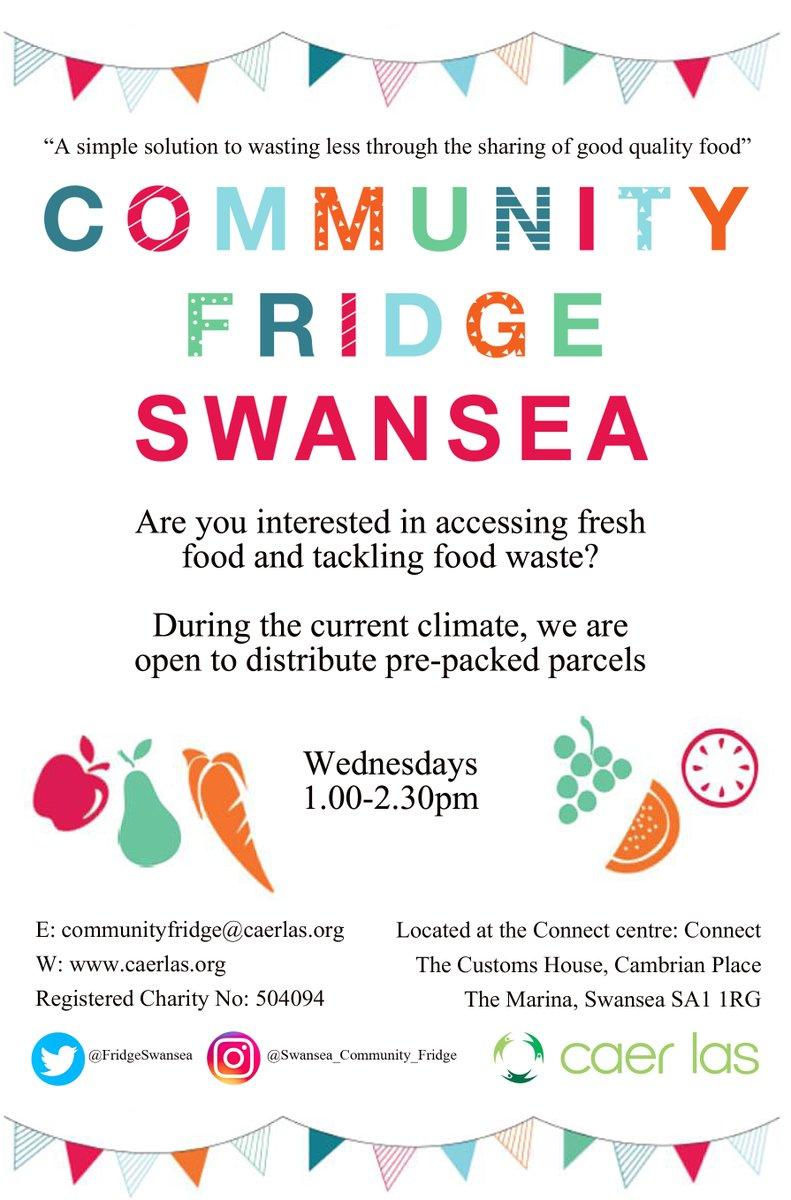 Continued excellent work by the Swansea Community Fridge. Keep every week a #zerowaste week! @FridgeSwansea
