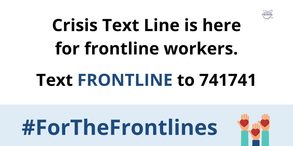 Our frontline workers have emotionally and physically borne the brunt of this crisis. 24/7 crisis counseling is available for frontline workers. For help: text FRONTLINE to 741741. #ForTheFrontlines. https://t.co/Hzk6ed8t1c