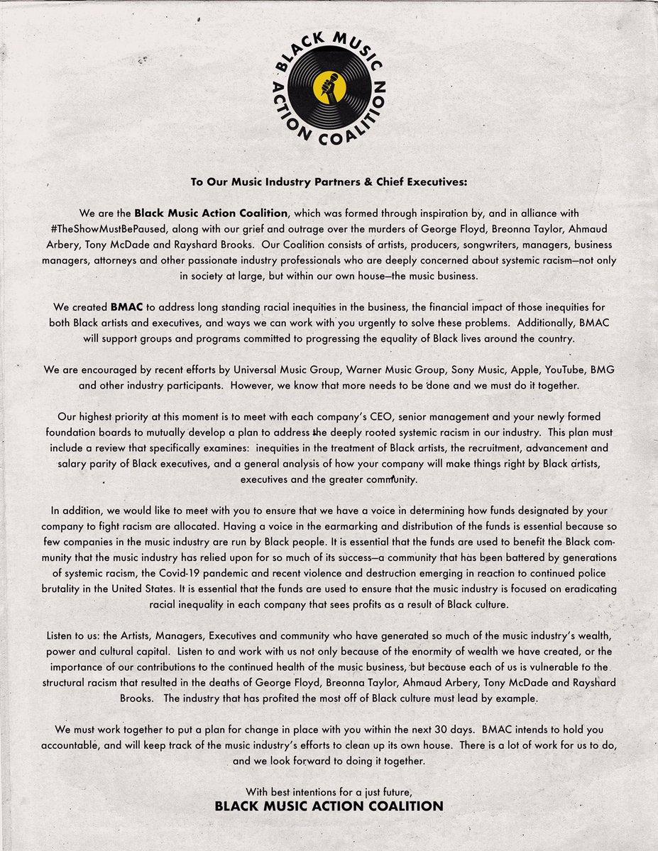 An open letter. #BMAC