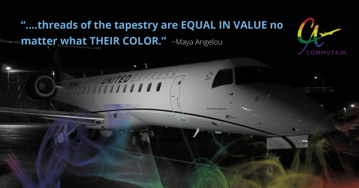 #MotivationMonday – We all should know that diversity makes for a rich tapestry, and we must understand that all the treads of the tapestry are equal in value no matter what their color. ~Maya Angelou #PrideMonth #CelebrateDiversity #AirlineDiversity #C5Family #Inspiration