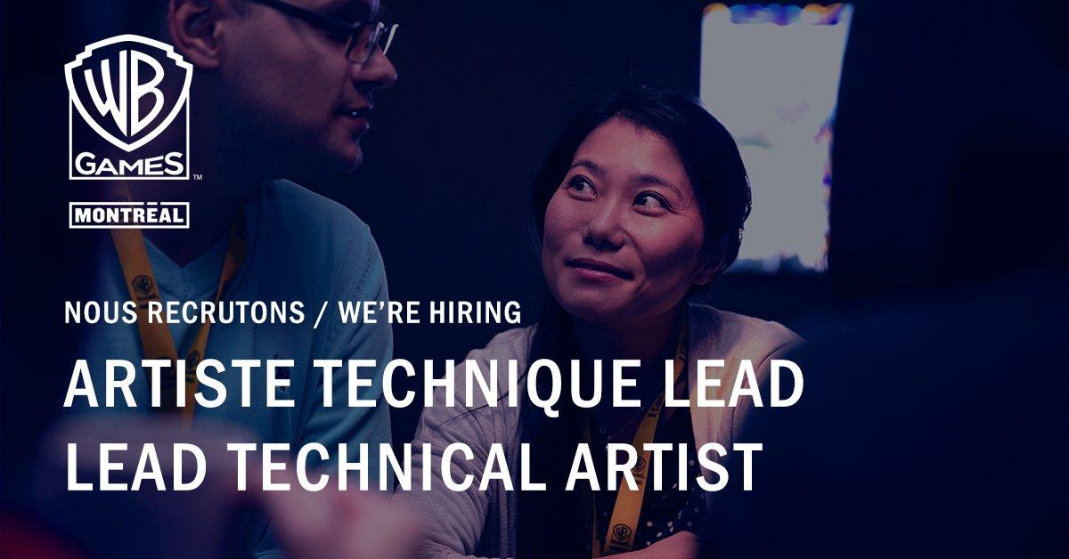 Hot job de la semaine : Artiste technique lead 🔥  Rejoignez-nous ! : https://t.co/ZRA2KQcqQj  💼  Weekly Hot Job : Lead technical artist 🔥  Join us! : https://t.co/A80J1PoWgF https://t.co/iVyrPGFKrh