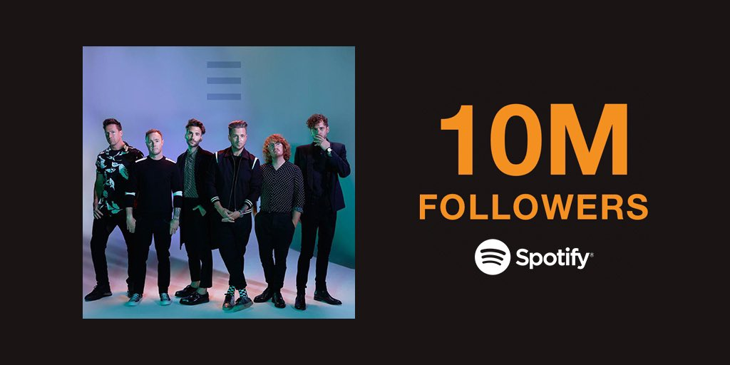 10M @Spotify followers! You guys are the best. Thank you. 🙏🏻💥 🤯