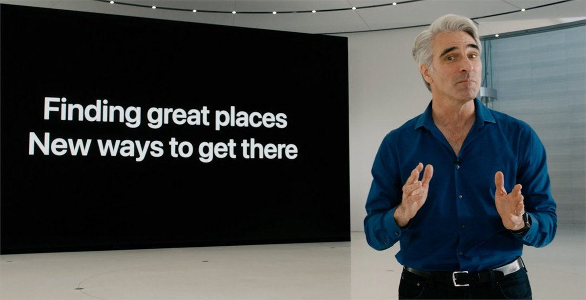"""De nouveaux endroits avec des trajets plus """"vert"""" pour y aller. C'est Plan #WWDC20 https://t.co/V7HksJSt0S"""