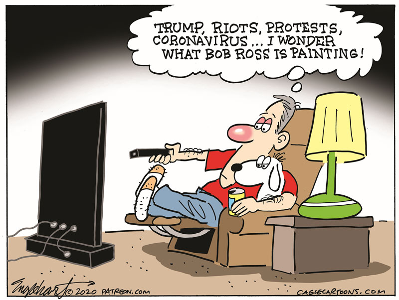 See our most popular (most reprinted) cartoons of the week – on my blog at: https://t.co/U3wFPWVKsM Come look and retweet!  The #1 cartoon is by Bob Englehart  Subscribe for free: https://t.co/Q9T1TWi9rw Support the Cartoonists: https://t.co/zUIYTIAbVg #BobRoss #coronavirus https://t.co/qUuirRu721