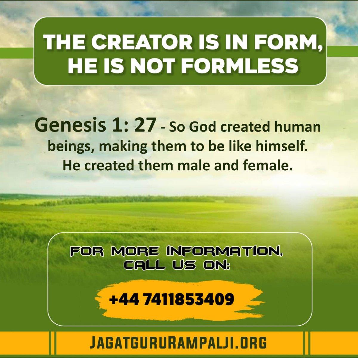 #WindrushDay2020 Kabir Saheb is the supreme God and he is not formless. He looks like A human. Saint Rampal Ji Maharaj knows the way to attain that God.