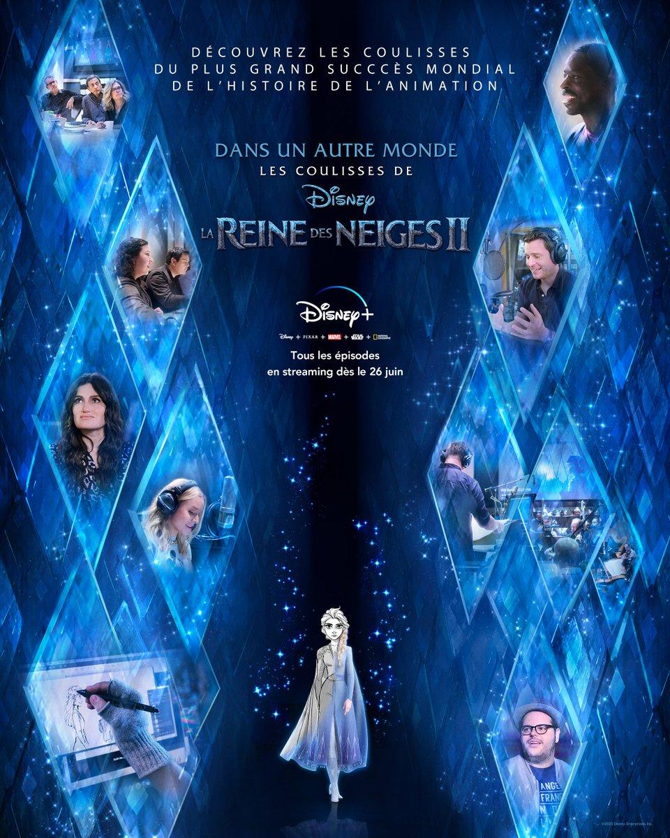 Dans 4 jours, découvrez les secrets de fabrication du plus grand succès mondial de l'histoire de l'animation 😍 ! Dans un autre monde : Les coulisses de #LaReinedesNeiges2, une série Disney+ Original, en streaming dès vendredi sur #DisneyPlus ! https://t.co/FSIrcivZuT