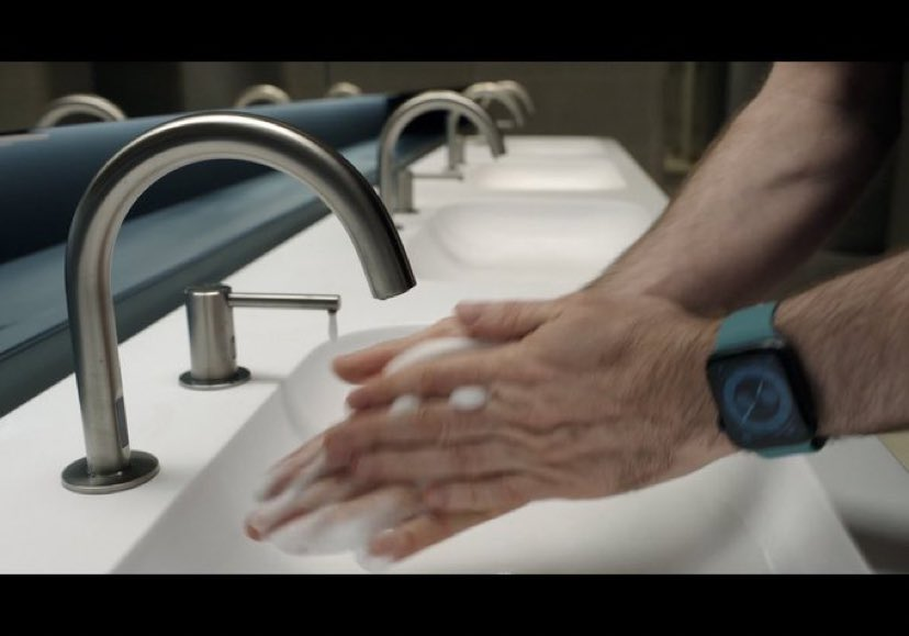 Apple Watch can detect if you're washing your hands and starts a 20s countdown