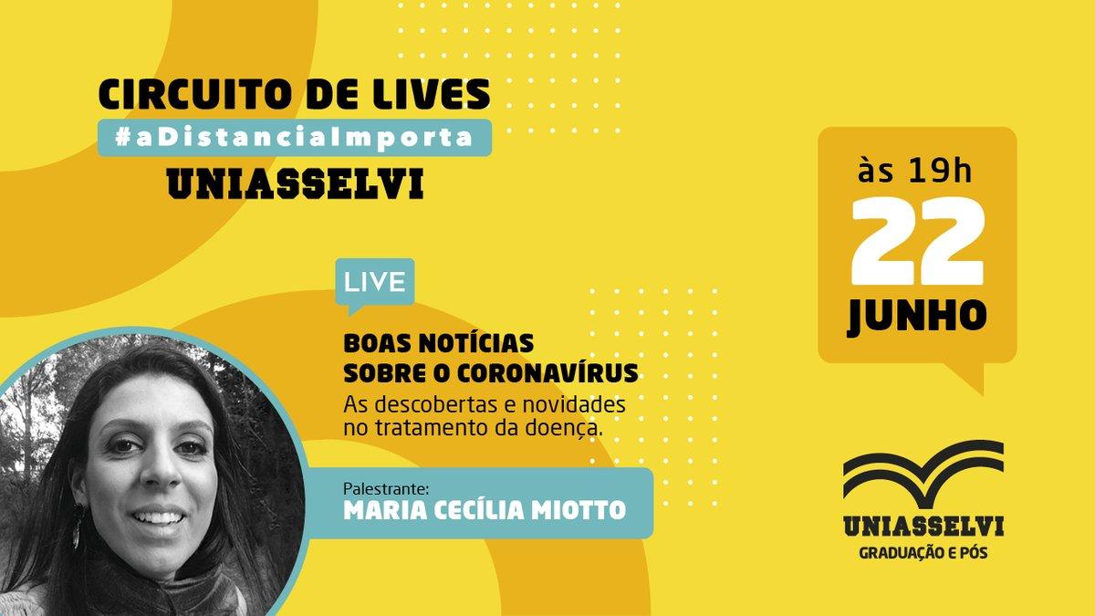"""A partir de hoje, você confere uma série de LIVES exclusivas no nosso canal oficial no YouTube! ⠀ 🗓 Quando: hoje, 22/06, às 19h. 📍 Onde: https://t.co/VM8JyIXB1Y 👉 Tema: """"Boas notícias sobre o coronavírus: as descobertas e novidades no tratamento da doença"""".  #covid #pandemia https://t.co/pMQV8lNT2x"""