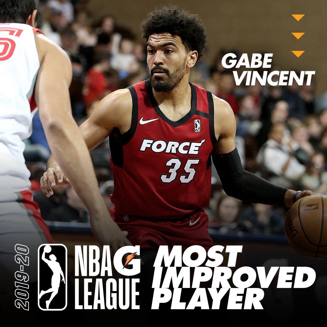 Congrats, @iamgabevincent2!  More info on Gabe's @nbagleague award - https://t.co/oJBLXB4MOT https://t.co/qonr43sSct