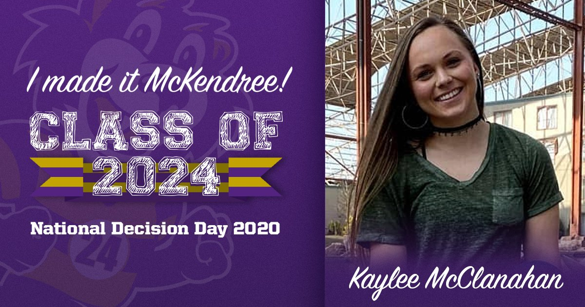 RT @McKAdmission: Welcome to the family! #MakeItMcKendree  #NationalDecisionDay #CollegeSigningDay https://t.co/f9OB5WacfY