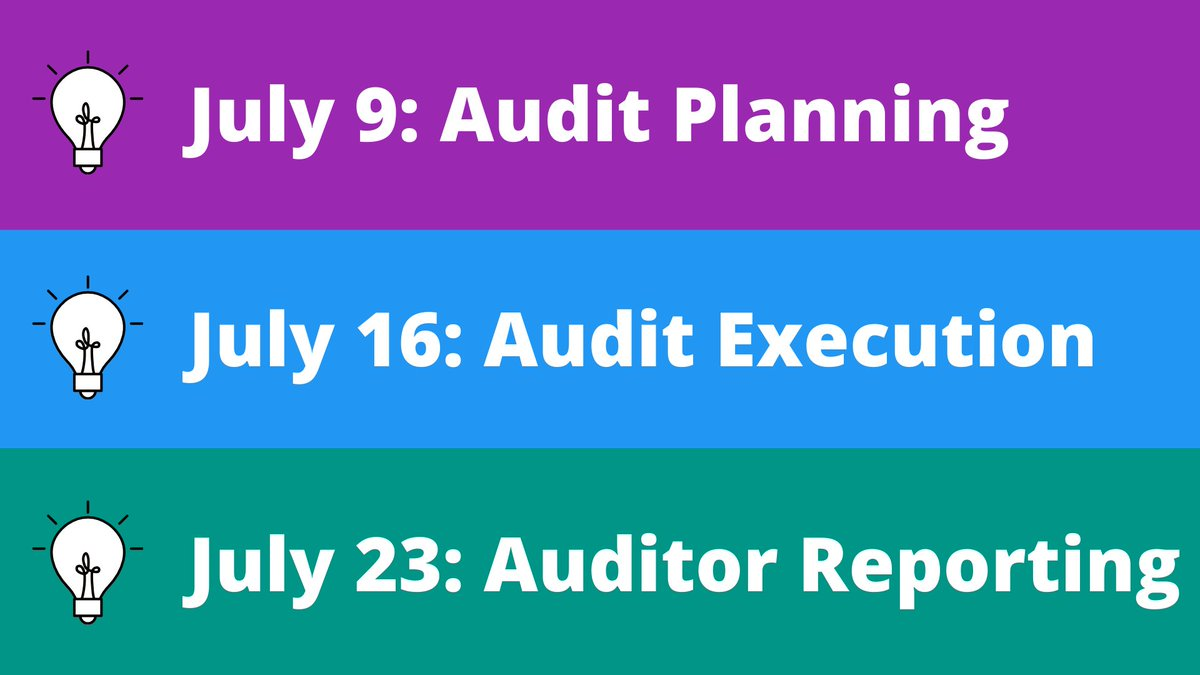Auditing in the pandemic environment presents unique challenges. Join us throughout the month of July for a series of webinars addressing each phase of the audit. For more information, and to register, visit: ifac.org/knowledge-gate…