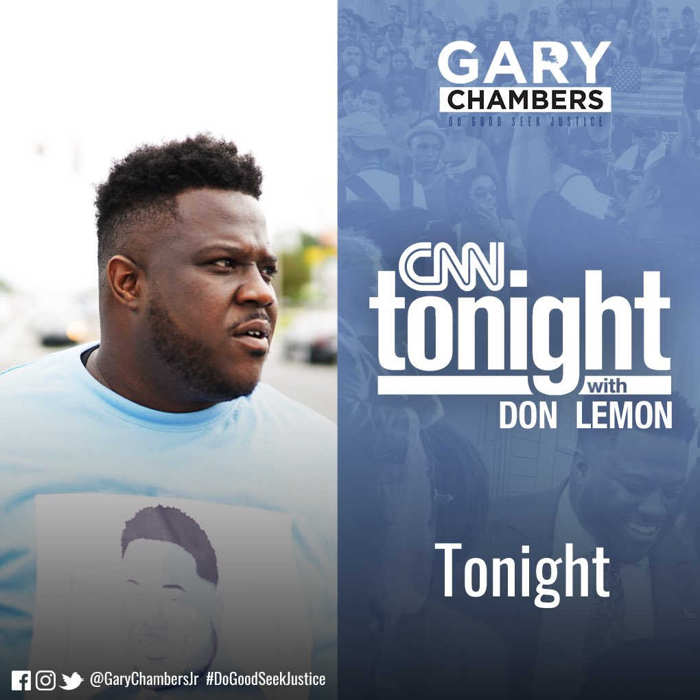 Tonight going live at 9:45 CST on @CNNTonight.    The last few days have been a whirlwind, but tonight I get to talk about Baton Rouge with the biggest journalist from Baton Rouge @donlemon. For me, this is about pushing our people toward #NewBlackLeaders. https://t.co/5f060Q0Mc1