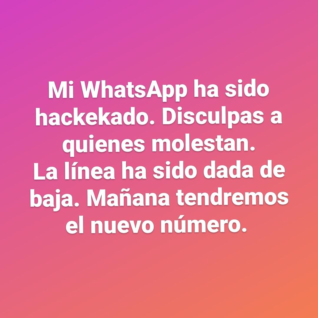 Mi whatsApp ha sido hackeado. Que la jodita les sirva para remedios... y que no les alcance 🙌 https://t.co/pIzwbnynOU
