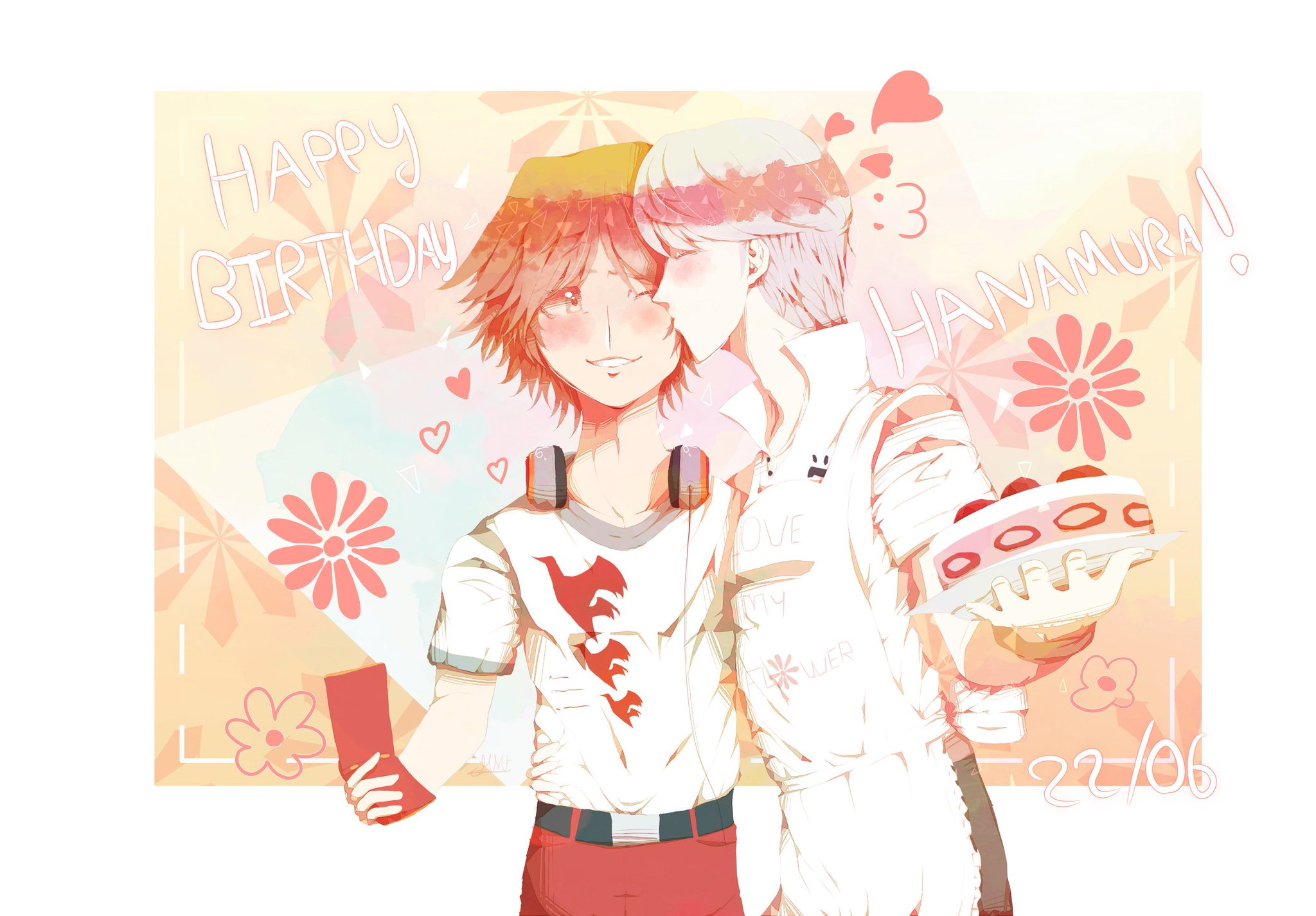 Today is Yosuke Hanamura\s day ! Here\s a souyo art for the occasion.  Happy birthday, prince of Junes !