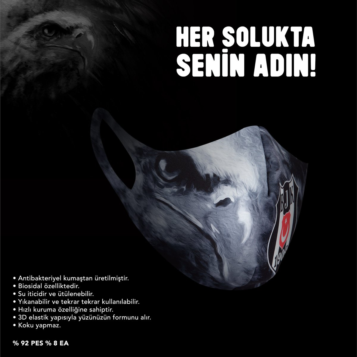 Her solukta senin adın... 🦅😷   Beşiktaş JK maskeleri bu gece 00.00'da https://t.co/xSOGhYGVVv 'de, yarın sabah tüm Kartal Yuvası mağazalarında satışta! https://t.co/sHggVTNt71