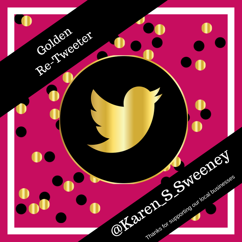Drum roll please #harrogatehour  Winner of the #Hitmewithyourbesttweet AND the Golden Retweet award, is the lovely, the highly organised, the events-mistress herself,  @Karen_S_Sweeney.  Well done lovely. https://t.co/sqhXUsUMao