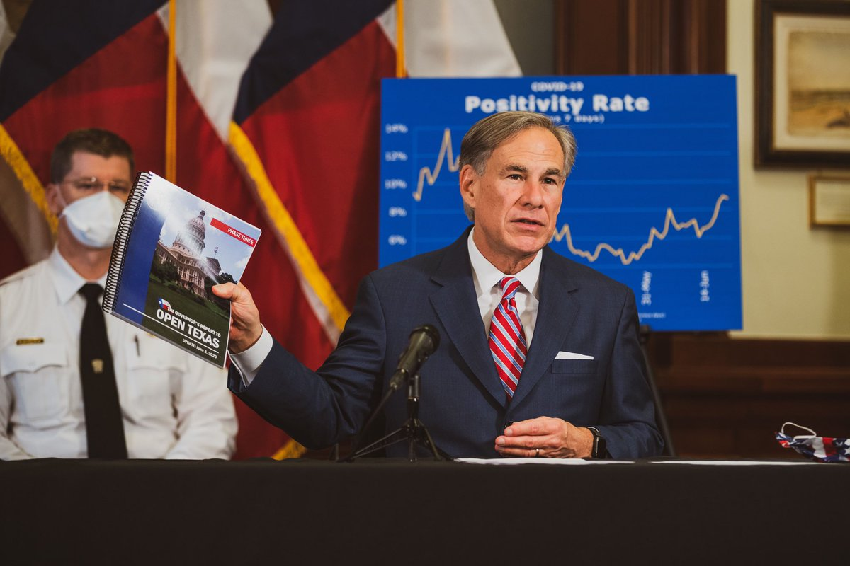 Providing an update on Texas' continued response to #COVID19. Texans and Texas businesses should continue to follow the minimum standard health protocols established by @TexasDSHS to mitigate the spread of this virus. bit.ly/2YWjYQR