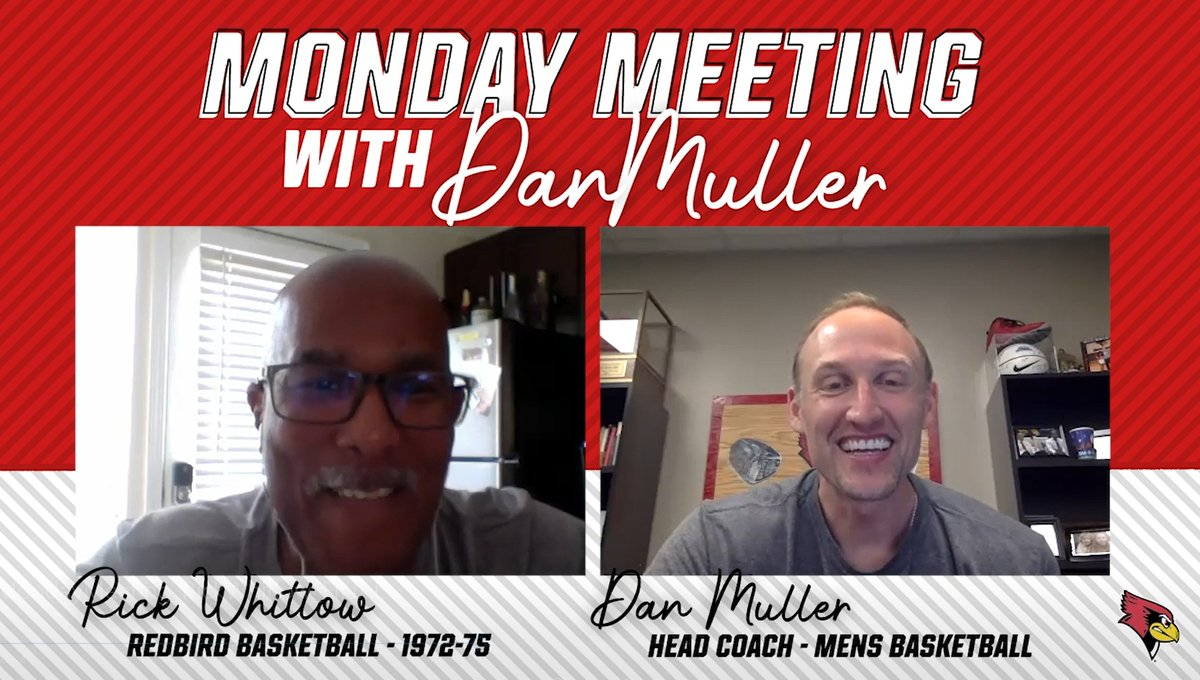 On today's Monday Meeting with Dan Muller - the 12th edition of the weekly series - #REDBIRDhoops head coach Dan Muller chats with 1,000-point scorer and Illinois State Percy Athletics Hall of Fame member Rick Whitlow (@RickWhitlow).       http:// bit.ly/383cik1    <br>http://pic.twitter.com/zpoQDumClf