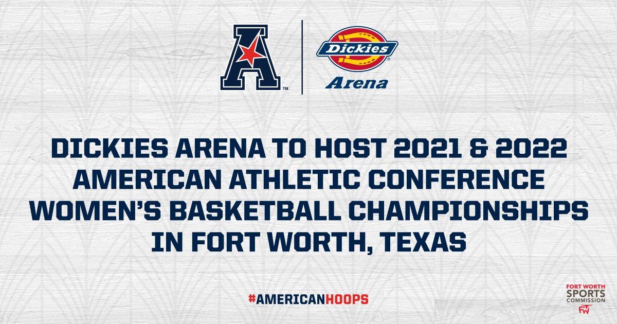 BREAKING: Our '21 and '22 #AmericanHoops tournaments are headed to @DickiesArena @fortworthsports! 🏀🏆  READ: https://t.co/l7xix18lD5  @UCF_WBB @GoBearcatsWBB @ECUWomensHoops @UHCougarWBB @MemphisWBB @SMUWBB @USFWBB @templewbb @GreenWaveWBB @TUWBasketball @GoShockersWBB https://t.co/QYfbRzoz1Q