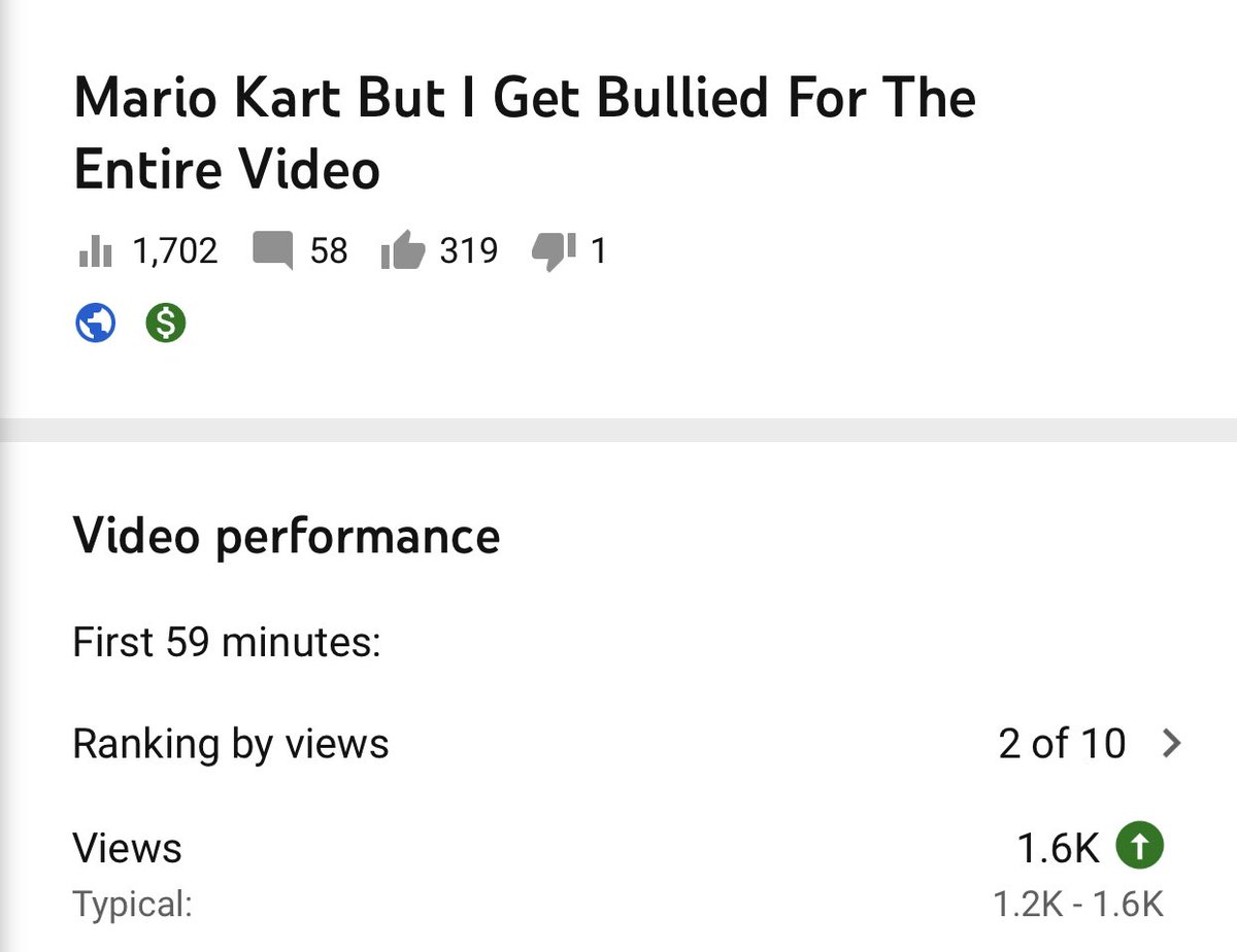 my new video is doing 2nd best out of my last 10 videos, PLEASE HELP ME GET IT TO NUMBER 1 youtu.be/pgg_rjIIVRw