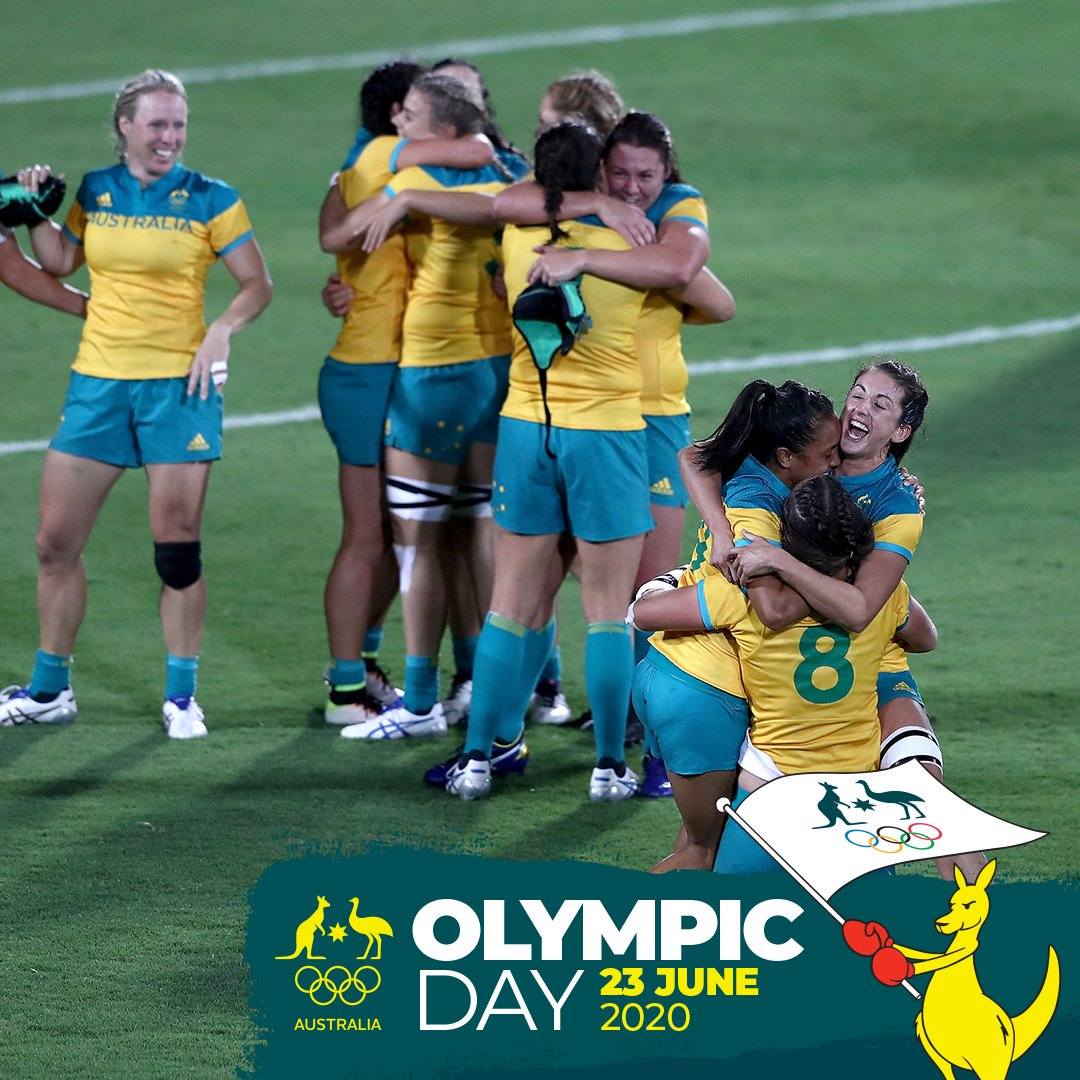 Happy #OlympicDay!💚💛  Today we recognise all 3988 Aussie Olympians & everything we love about the Olympics - inspiring moments, teamwork, excellence, sportsmanship, overcoming challenges & the connection with billions of fans worldwide!   #OlympicDay2020 #StayActive https://t.co/vDfvxa74DD