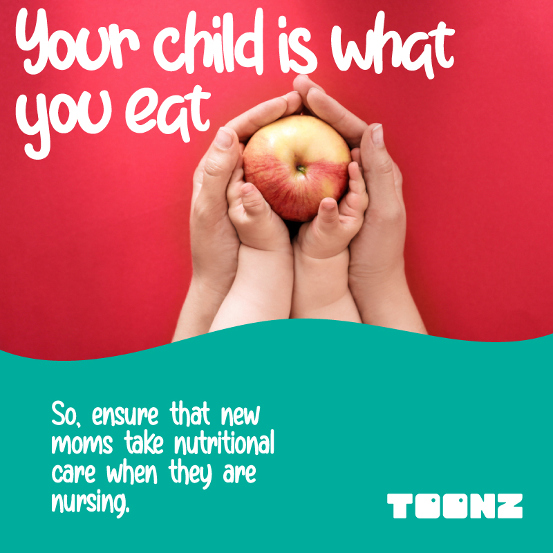 Nutrition is important, especially when nursing. Remember to ask for help. While a mother busy taking care of the baby's needs it is essential to focus on the diet & nutrition of the mother. Make sure you consume a healthy & balanced meal. #ToonzRetailIn #MommyTips #Nutritionpic.twitter.com/P6kf6UDNEa
