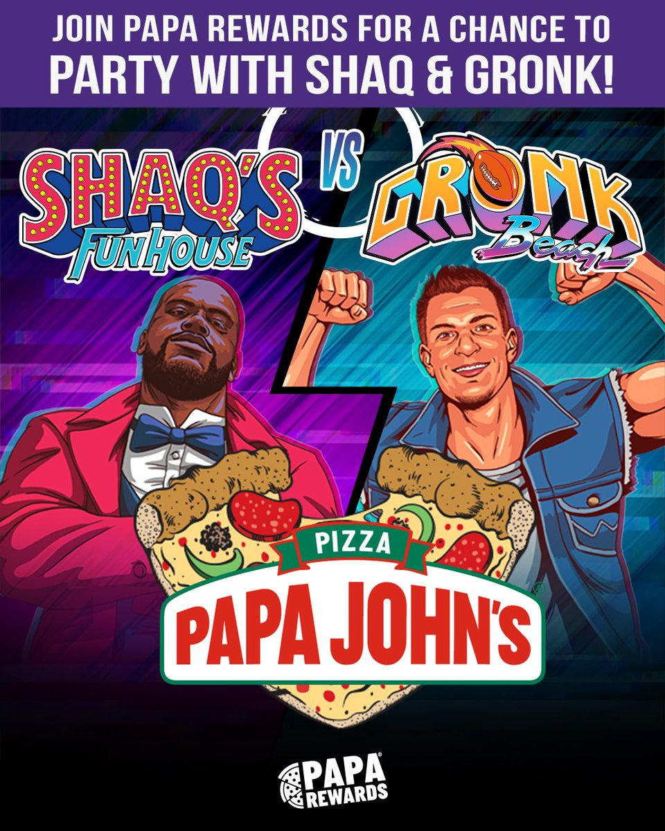 .@PapaJohns and I are giving you a chance to have the ultimate virtual pizza party with me & @Gronk! Just go to https://t.co/XuTZI9m1kc and sign up for Papa Rewards to automatically be entered. NO PURCHASE NECESSARY. Ends 6/25. Official Rules: https://t.co/iVpW1IgJsG https://t.co/4dIO8iDTLl