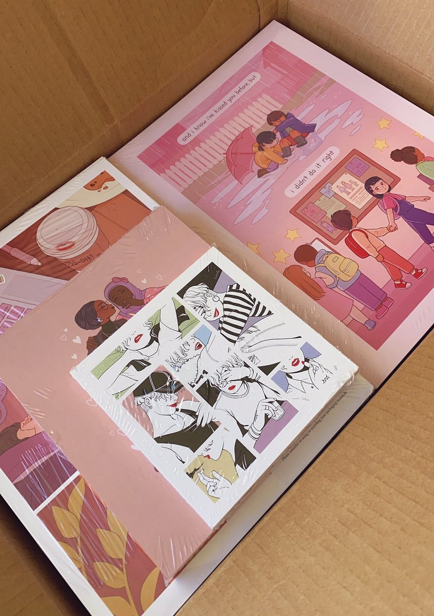prints are here! will be shipping them out tomorrow ✨ unfortunately the large format printing place im working with has run into some delays so any orders including the girls girls girls poster will be shipped later this week! ty for your patience!!