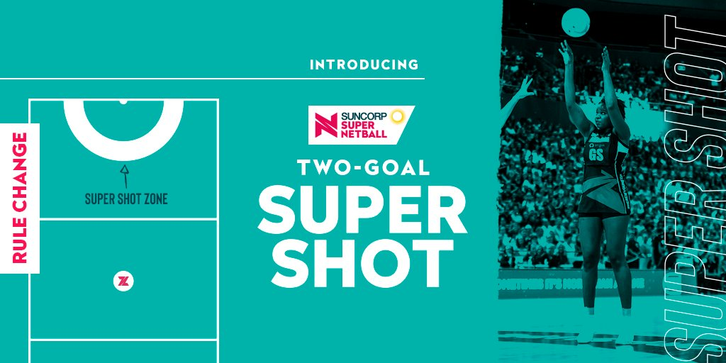 The @SuperNetball league has announced the introduction of the two-goal Super Shot, a new scoring rule coming to the league.   Full details -https://t.co/yseNM8miw5 https://t.co/tFyXVaLKuE