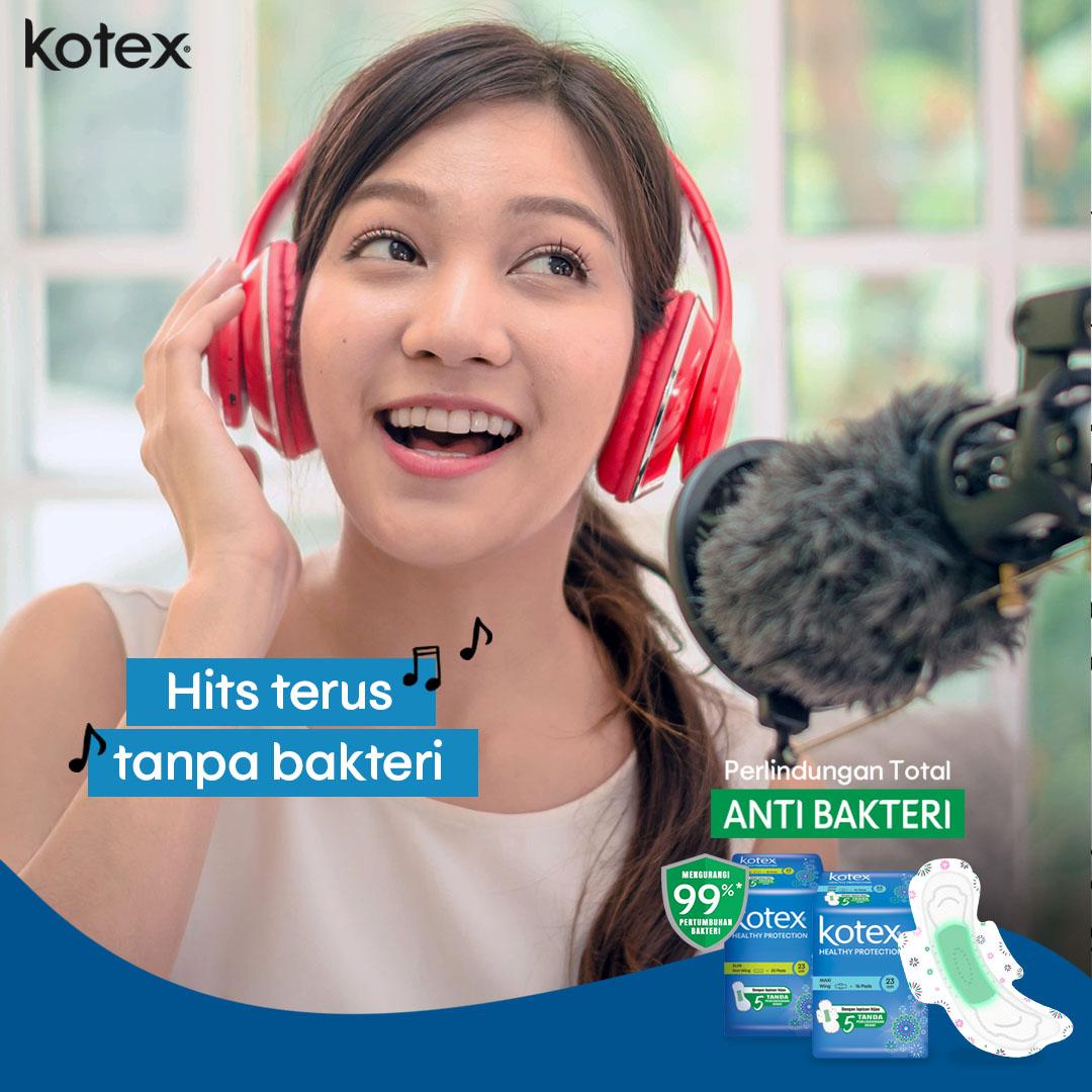Mau cover lagunya seharian banget pas menstruasi juga ga khawatir, kan udah pakai Kotex Healthy Protection  Yuk lah cover lagu lagi!😀  #KotexDuniaCewe #PerlindunganTotalAntiBakteri https://t.co/K1zObfXy02