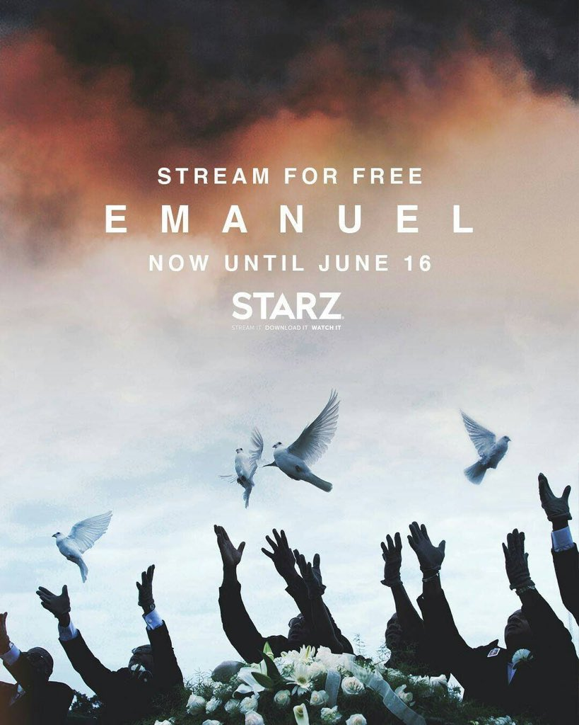 Tomorrow (6/23) is the last day to stream Emanuel The Movie for free, on STARZ, ITunes, and Amazon. ⛪️ https://t.co/PBk8tGdubT