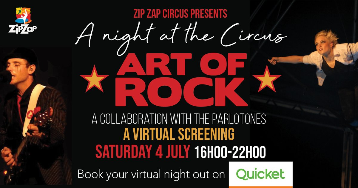 Zip Zap Circus presents the 2nd virtual screening series:  'A Night at the Circus' called Art of Rock. Zip Zap's circus performers joined forces with one of South Africa's favourite rock bands, the Parlotones and the late, iconic artist, Paul du Toit.   https://t.co/6fXiJf1XRz https://t.co/zIS32nzJYT