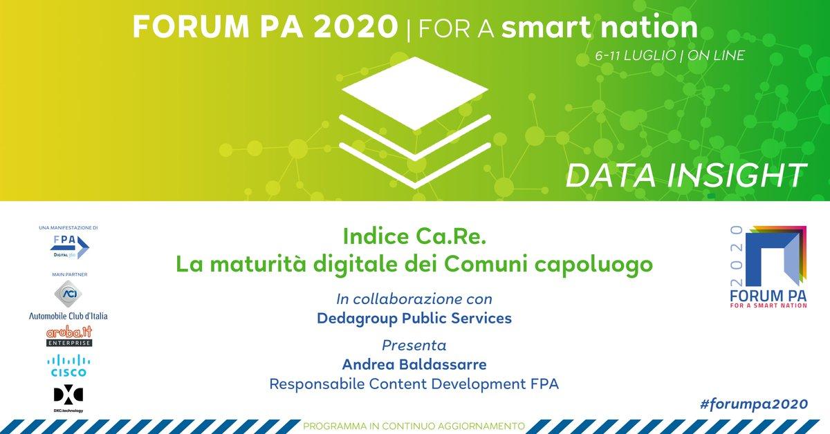 Una ricerca sulla maturità digitale dei Comuni capoluogo. Scoprila a #FORUMPA2020 durante l'evento in collaborazione con @DEDAGROUP_ICT  👉https://t.co/Eb5ONvuPA5 #road2forumpa2020 @AndyReMagio https://t.co/09iAFP8yVs