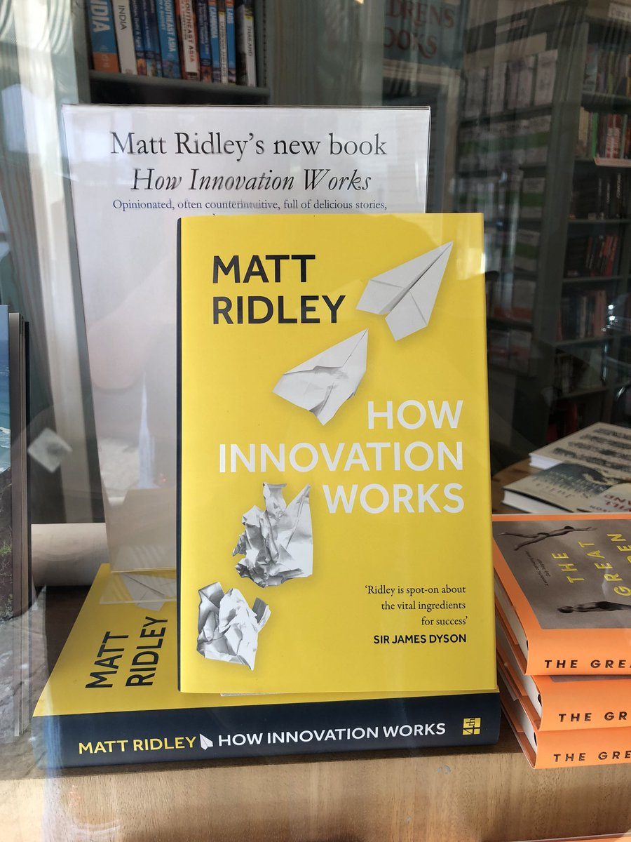 And now @mattwridley new book with signed bookplates available from @aldebooks @4thEstateBooks