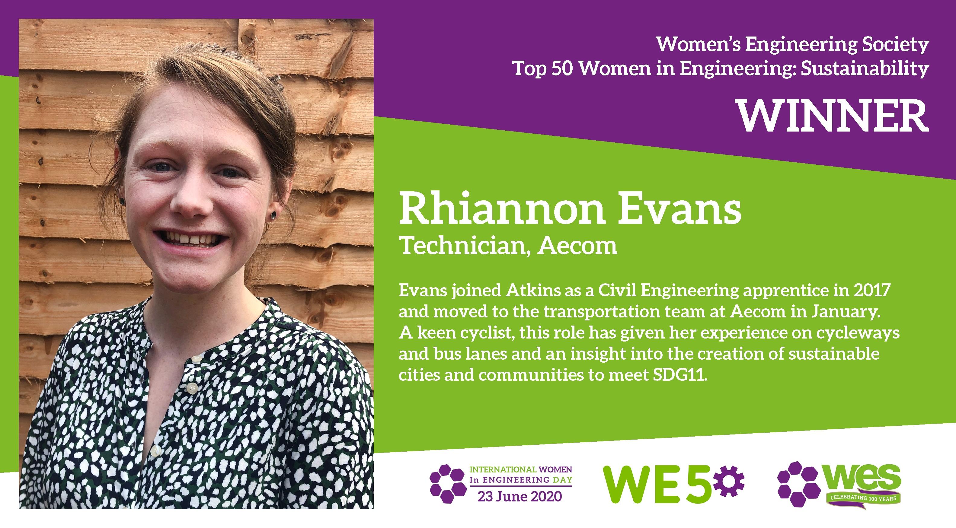 Rhiannon Evans AECOM technician