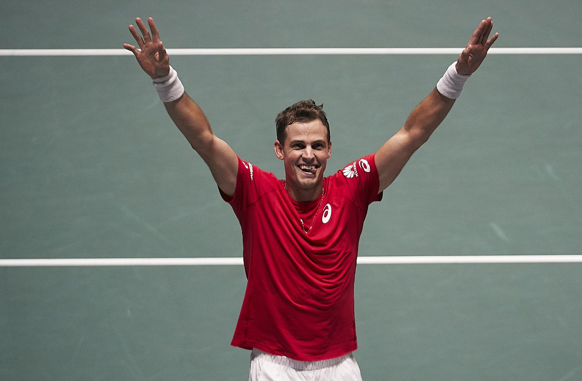 Happy Birthday @VasekPospisil    Davis Cup by Rakuten Madrid Finals runner-up turns  today   @TennisCanada | #DavisCupFinals #byRakuten <br>http://pic.twitter.com/YID1piuSvD