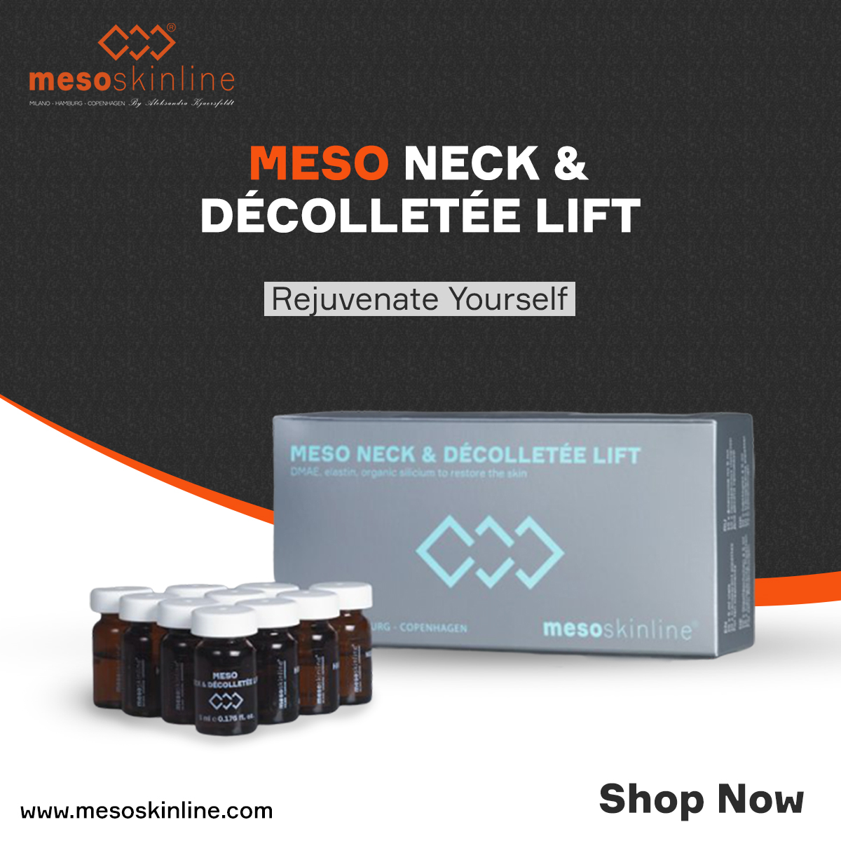 MESO NECK & DÉCOLLETÉE LIFT Gives the skin lift, strength and resilience  Shop Now: http://bit.ly/2S17fZz  #mesotherapy #meso #beautycourse #training #face #skinrejuvenation #skincare #skin #mesoneckanddecolette #firmskin #mesoskinline #labina #mesotech #mesoskinlineworldwidepic.twitter.com/D7DlJwCy51