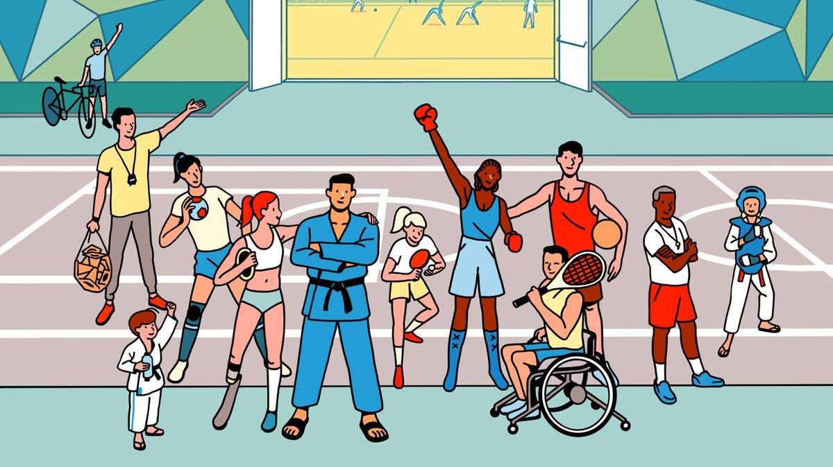 Le sport est important dans nos vies ! En cette #journeeolympique, @Paris2024 et +100 champions 🇫🇷 déclarent leur flamme aux 180 000 clubs qui changent chaque année la vie de millions de licenciés  Alors poussez leurs portes, rejoignez un club 👊  A lire > https://t.co/iHI2co603z https://t.co/PkFby9WG7I