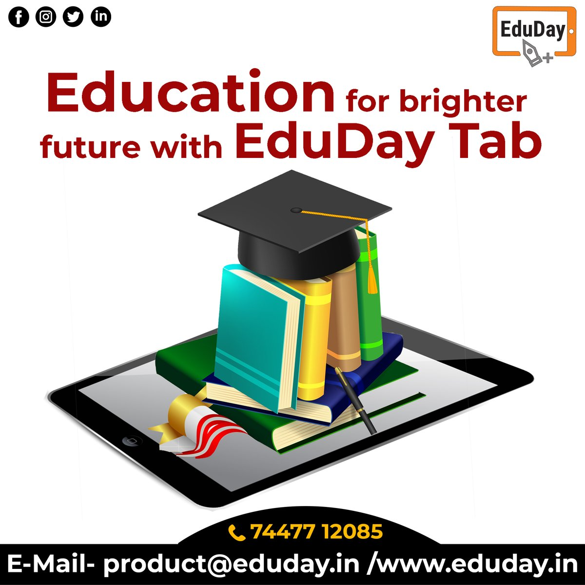 Transform Teaching, Inspire Learning and Deliver a world-class Student Experience.  Get in touch to know more:- Phone : +91 7447712085 E-Mail: product@eduday.in visit:- http://www.eduday.in   #eduday #edudayindia #pune #india #tab #tablets #CoachingInstitute #Coachingclassesspic.twitter.com/adWUiiFhAG