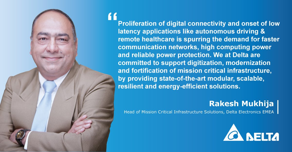 """We at Delta are committed to support #digitization, #modernization and #fortification of #missioncritical infrastructure, by providing state-of-the-art modular, scalable, #resilient and #energyefficient solutions."""" deltapowersolutions.com/en/index.php"""