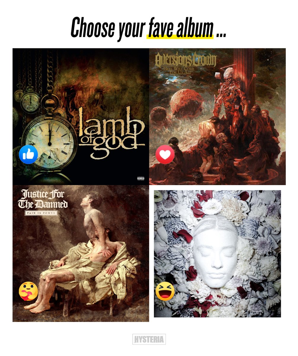 Some solid #metal releases have dropped recently, notably @lambofgod 💀 @Aversions_Crown 💀 @JFTDofficial 💀 @makethemsuffer 🔥 Which is your fav?🤘#LambOfGod #AversionsCrown #JusticeForTheDamned #MakeThemSuffer @NuclearBlastAus @greyscalerec https://t.co/prE9X5BdjI