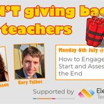 Image for the Tweet beginning:  Free webinar for educators on