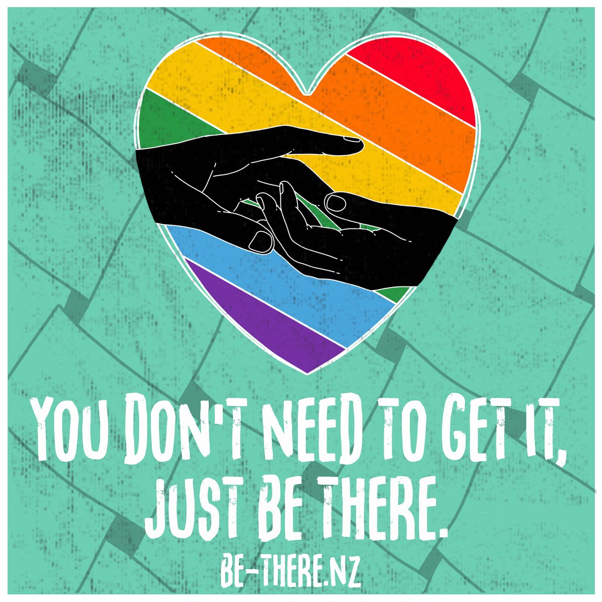 This week the Youth Sector Rainbow Collective is excited to announce the launch of the Be There campaign.  Be There is about supporting and educating the whānau of rainbow, gender and sex diverse youth by telling them that they don't have to get it, they just have to be there. https://t.co/0vJPMer005