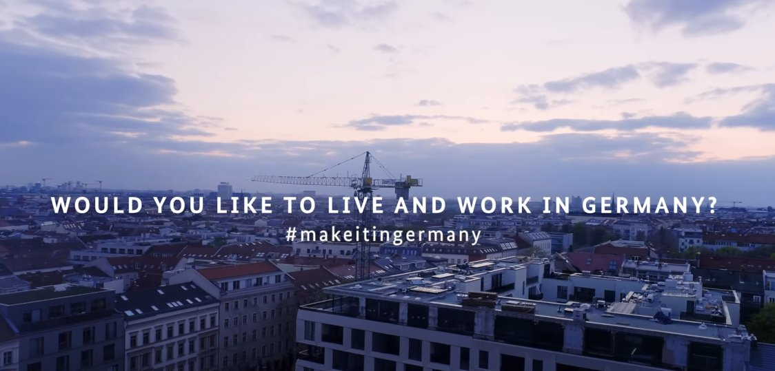 Do you want to #work and live in #Germany? This is #MakeitinGermany! Watch our new #imagefilm and learn how we can support you on your #way to Germany: https://t.co/tdYmMiKHEE https://t.co/XCztu7LyxV