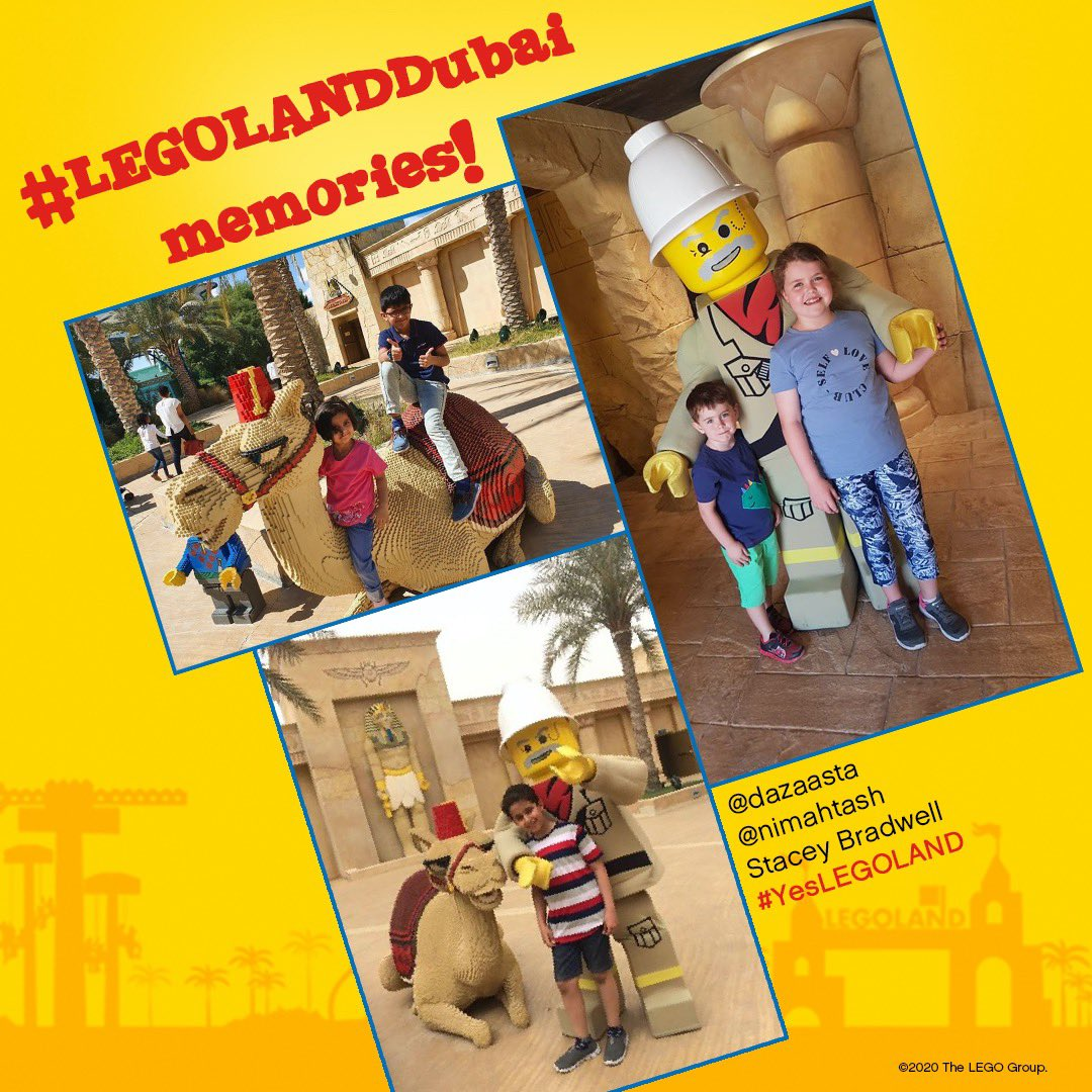 Ollie the dragon visited the LEGO Camel yesterday and we received some AWESOME #LEGOLANDDubai memories from your own visits to ADVENTURE! Thanks to our amazing followers for sharing their memories and keep using #YesLEGOLAND to share your favourite moments for us to share! https://t.co/x3kubtgxLx