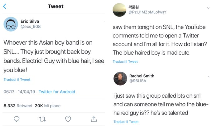 Taehyung went viral as the 'Guy with the blue hair' after SNL and that's so amazing