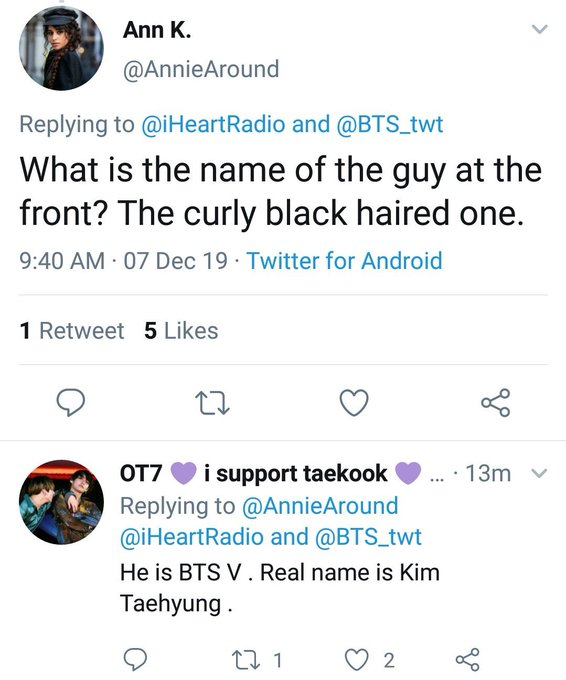 Taehyung went viral again as the 'GUY WITH THE CURLY HAIR' during the presentation of the group at the opening of the iHeartRadio Jingle Ball skksks he keeps snatching locals left and right
