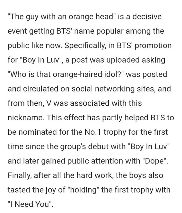 """Taehyung also went viral during DEBUT times of his as """"The guy with an orange head"""" baby has always been a Stan attractor !!!"""