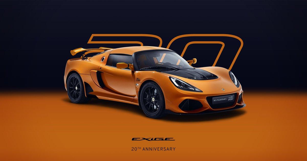 Exige 20th Anniversary - celebrating 20 Years of Exige. https://t.co/o7j25DtRvb #ForTheDrivers #Exige20thAnniversary https://t.co/wb315tvGKG
